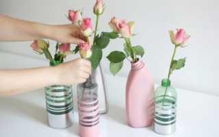 Как сделать из банки вазу своими руками: вазочка из баночки