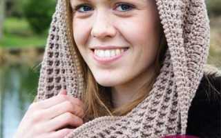 Снуды крючком схемы и описание фото, шарф пышными столбиками