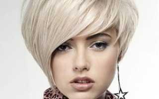 Стрижка с косой челкой на средние волосы – фото косых рваных челок