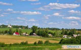 Чем городской образ жизни отличается от сельского