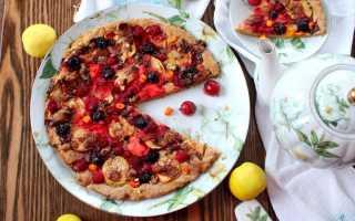 Сладкая пицца с фруктами рецепт с фото