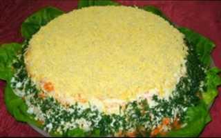 Ингредиенты для салата мимоза с консервой