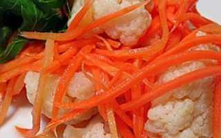 Цветная капуста по-корейски: пошаговые рецепты быстрого приготовления и на зиму, с фото и видео