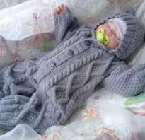 Костюм для новорожденного спицами 0 3 месяцев – вязание костюмчиков для малышей