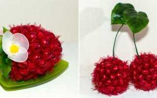 Свит дизайн мастер классы с пошаговым фото — гроздь винограда из конфет на бутылке