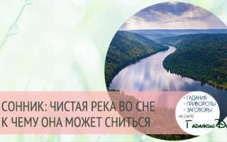 К чему снится замерзшая река, сон речка
