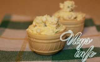 Тарталетки с плавленным сыром и чесноком, начинка для сырных корзиночек