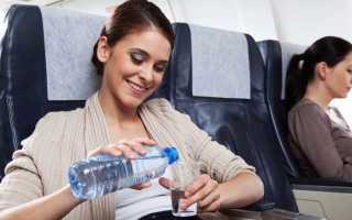 Можно ли в самолет брать воду?