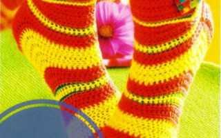 Как связать крючком носки для начинающих?