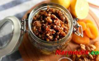 Смесь из сухофруктов для сердца рецепт амосова