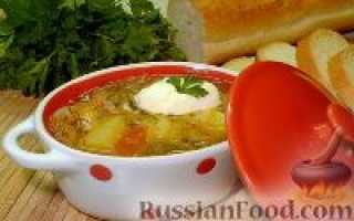 Суп из квашеной капусты без мяса, приготовить вкусные кислые щи