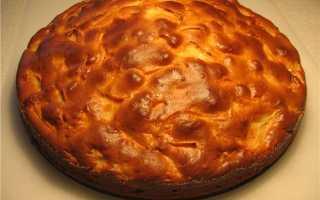 Шарлотка из замороженных яблок рецепт