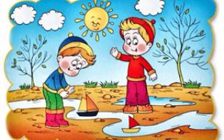 Пословицы о весне для 4 класса – весенний дождь растит осенний гноит