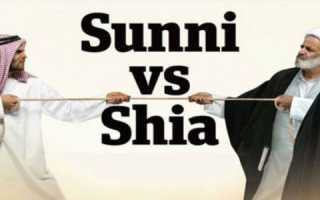 Разница между суннитами и шиитами кратко