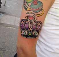 Тату корона на руке для девушек фото