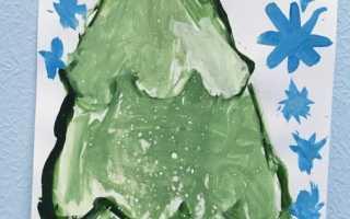 Рисуем красками с детьми 5 лет, рисование кисточкой