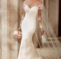Свадебные платья не пышные фото