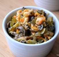 Салат обжорка классический с курицей и грибами