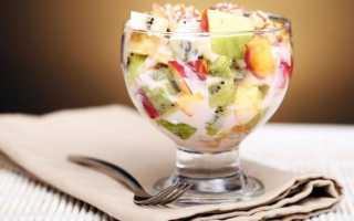 Салат из фруктов рецепт с фото — фруктовый сад ат