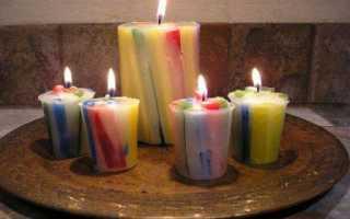 Декоративные свечи своими руками в домашних условиях
