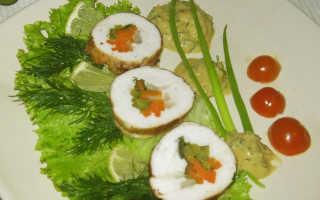 Куриные рулетики с овощами
