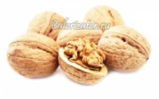 Орех грецкий калорийность на 100 грамм – сколько килокалорий в орехах
