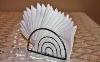 Как сложить красиво салфетки бумажные для праздника: как украсить салфетницу?