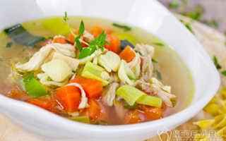 Суп на основе куриного бульона