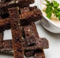 Чесночные гренки из черного хлеба к пиву: пошаговые рецепты с фото и видео