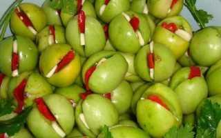 Армянчики из зеленых помидор рецепт на зиму, маринованные овощи по армянски