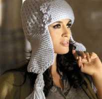 Вяжем шапку ушанку женскую спицами с описанием, модели вязаных шапок ушанок для женщин