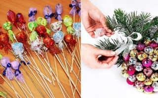 Собрать сладкий подарок на новый год: новогодние поделки из конфет своими руками