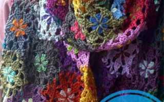 Как вязать крючком шарф для начинающих?