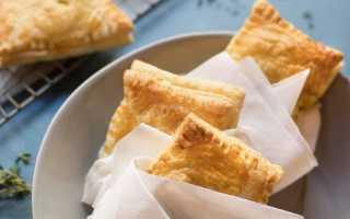 Слойки с яйцом – конвертики из слоеного теста с сыром рецепт