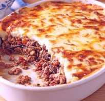 Мусака с кабачками и картофелем в духовке, баклажаны с фаршем по гречески