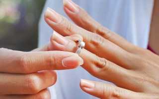 Кольцо не снимается с пальца, что делать?