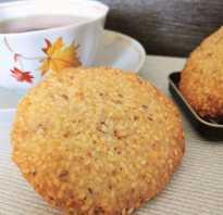 Печенье с кунжутом рецепт с фото