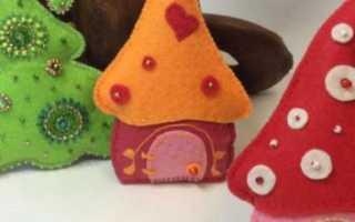 Новогодние игрушки из фетра своими руками: выкройки, шаблоны и мастер-классы с фото и видео