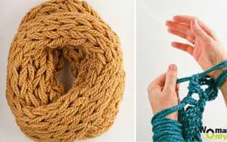 Нитки для вязания руками без спиц – вязать на пальцах