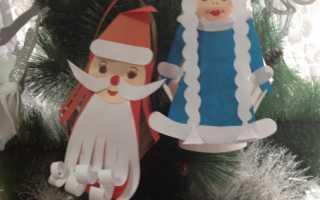 Открытка дед мороз своими руками из бумаги, поделка фонарик в детский сад