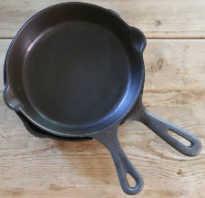 Как восстановить чугунную сковороду?