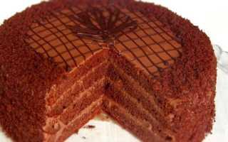 Торт Прага простой рецепт в домашних условиях