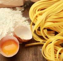 Лапша домашняя рецепт теста с яйцом