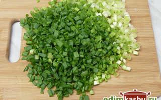 Оладьи с зеленым луком на кефире