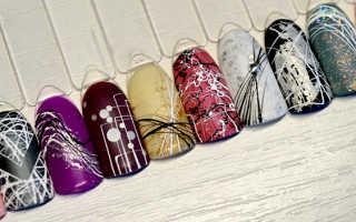 Как работать с паутинкой для ногтей, нужно ли перекрывать гель краску топом?