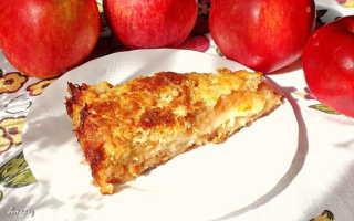 Яблочный пирог с манкой рецепт