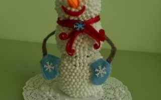 Поделки из дисков на новый год: как сделать снеговика из ватных палочек?
