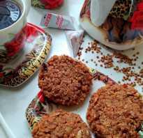 Печенье из гречневых хлопьев