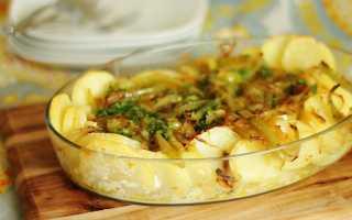 Треска в духовке с картошкой и сыром