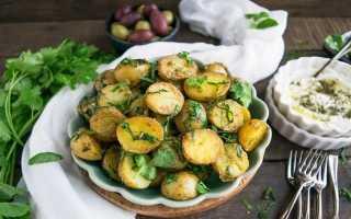 Вареная картошка с укропом
